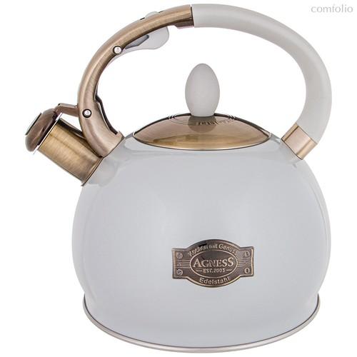 Чайник Agness Со Свистком 3,0 л Термоаккумулирующее Дно, Индукция - L&K