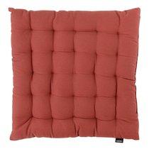 Подушка на стул из хлопка терракотового цвета из коллекции Prairie, 40х40 см - Tkano