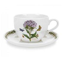 """Чашка для завтрака с блюдцем Portmeirion """"Ботанический сад. Гвоздика турецкая"""" 500мл - Portmeirion"""