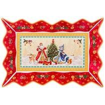 Блюдо Фигурное Christmas Collection 25Х15Х3,5 см - Jinding