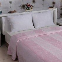 "Плед KARNA вельсофт жаккард ""PALMA"" 160x220 см, цвет розовый, 160 x 220 - Bilge Tekstil"