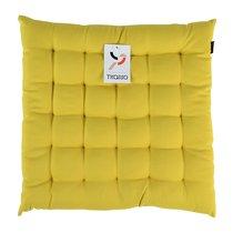 Подушка на стул горчичного цвета из коллекции Wild, 40х40 см - Tkano