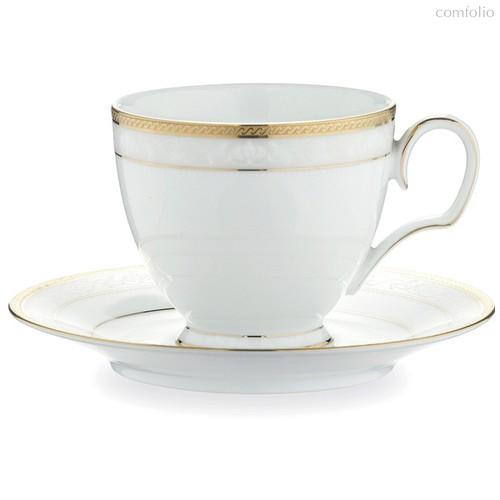 "Чашка чайная с блюдцем Noritake ""Хэмпшир, золотой кант"" 250мл - Noritake"