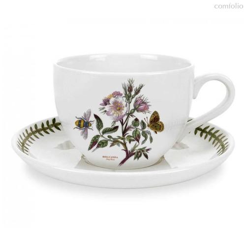 "Чашка для завтрака с блюдцем Portmeirion ""Ботанический сад. Шиповник"" 500мл - Portmeirion"