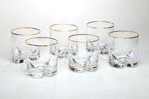 Набор стаканов ДЛЯ ВИСКИ из 6 шт. ТРИО 410 мл ВЫСОТА=9,5 СМ. (КОР=4Набор.) - Crystalex