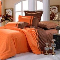 Апельсин в шоколаде - комплект постельного белья, цвет оранжевый, 1.5-спальный - Valtery