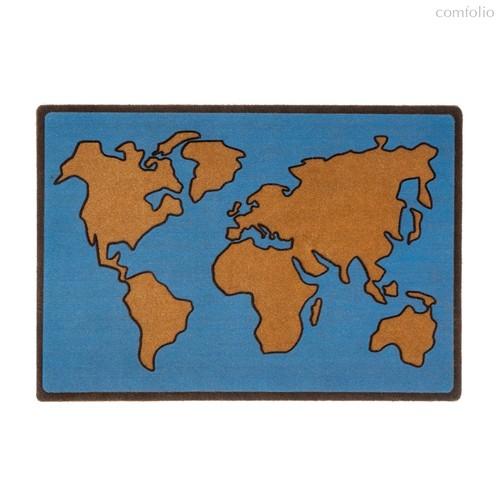 Коврик придверный World Map, цвет синий - Balvi