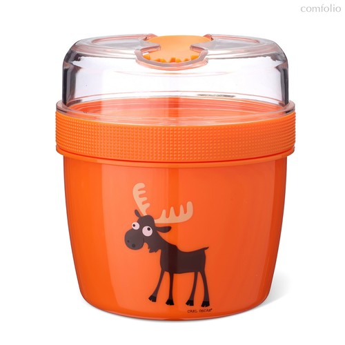 Ланч-бокс с охлаждающим элементом N'ice Cup™ Moose оранжевый, цвет оранжевый - Carl Oscar