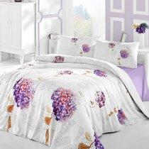Постельное белье Ranforce Hidra, цвет фиолетовый, размер Евро - Altinbasak Tekstil