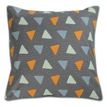 Чехол для подушки с дизайнерским принтом Triangles из коллекции Wild, 45х45 см - Tkano
