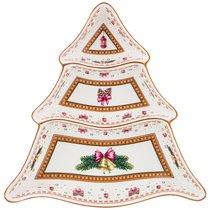 Менажница 3-Х Секционная Christmas Collection 25x25 см Высота 4,5 см - Cheerful Porcelain