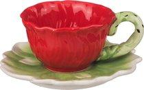 Кофейный Набор На 1 Персону 2 Пр Маковый Цвет 100 мл - Fujian Dehua Huachen Ceramics