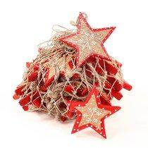 Украшения подвесные Christmas Stars, деревянные, в сетке, 30 шт. - EnjoyMe