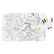 Набор из коврика-раскраски и 4 маркеров Bimbi - Guzzini