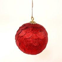 Шар новогодний декоративный Paper ball, красный - EnjoyMe