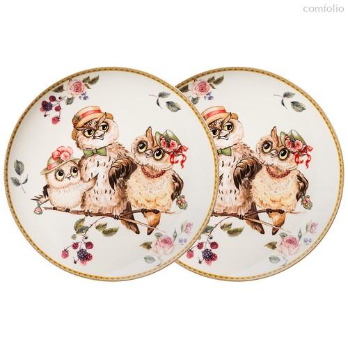 Набор Тарелок Закусочных Lefard Owls Party 2 Шт. 20,5 см - Jinding