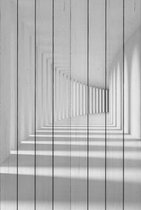 Белый коридор 60х90 см, 60x90 см - Dom Korleone