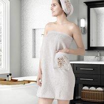 """Набор для сауны """"KARNA"""" женский махровый ARVEN 1/2, цвет молочный, 70x150 - Bilge Tekstil"""