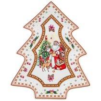 Блюдо Christmas Collection 26x21 см Высота 3,5 см - Cheerful Porcelain