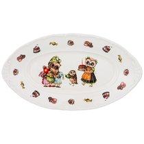 Блюдо Овальное Совушки 25,5x14,5см - Shunxiang Porcelain