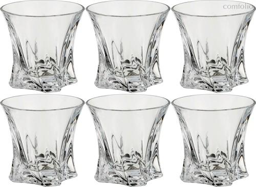 Набор стаканов ДЛЯ ВИСКИ из 6 шт. COOPER 320 мл ДИАМЕТР=10 СМ. ВЫСОТА=9 СМ. - Aurum-Crystal