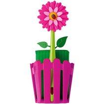 Щетка для посуды +губка на подставке FLOWER POWER - Vigar