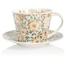 """Чашка чайная с блюдцем Dunoon 350мл """"Аква. Айлей"""" - Dunoon"""