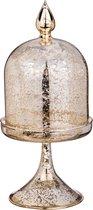 Ваза Декоративная Конус Диаметр 11 см Высота 24 см Цвет Античное Золото - DHT