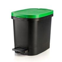 Мусорный бак с педалью BE-UTIL 10л, черный-зеленый, цвет зеленый/черный - Faplana