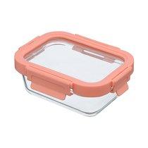 Контейнер для еды стеклянный 370 мл розовый - Smart Solutions