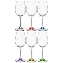 Набор бокалов для вина ВИОЛА из 6 шт. 350 мл ВЫСОТА 22,5 см (КОР 8Набор.) - Crystalex