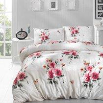 Постельное белье Ranforce Ela, цвет кремовый, размер Евро - Altinbasak Tekstil