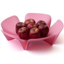 Ваза для фруктов Flower розовая - Qualy