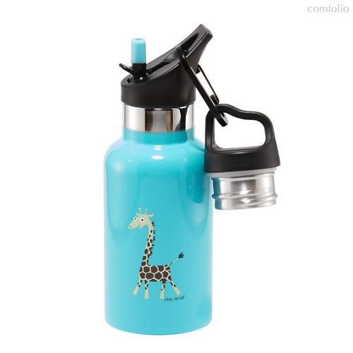 Детская термос-фляга TEMPflask™ Giraffe 0.35л бирюзовая, цвет бирюзовый - Carl Oscar