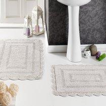 Набор кружевных ковриков Evora, цвет коричневый, 50x70 - Bilge Tekstil