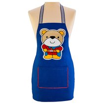 Фартук Маленький Декоративный Супермен ,Синий, 100% Хлопок - Santalino