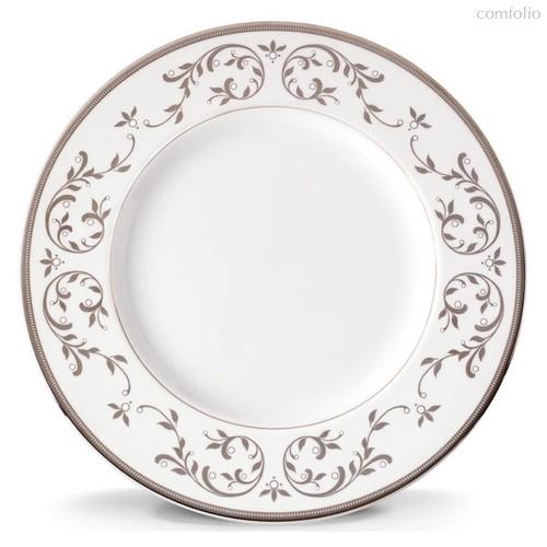 Тарелка обеденная Lenox Чистый опал, платина 27см, фарфор - Lenox
