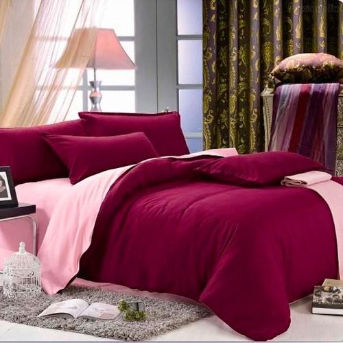 Королевское бордо - комплект постельного белья, цвет бордовый, размер 1.5-спальный - Valtery