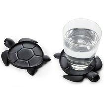 Подставка под стаканы Save Turtle, черный - Qualy