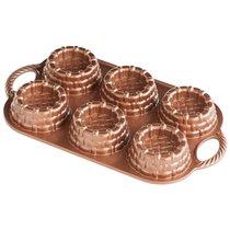 "Форма для выпечки 6 кексов 3D Nordic Ware ""Корзиночки"" 0,7 л, литой алюминий - Nordic Ware"