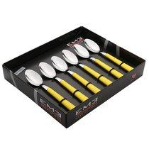 Набор чайных ложек 6 шт. Брио Желтый, подар.упаковка - EME Posaterie