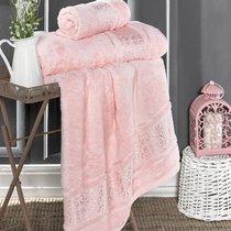 """Полотенце бамбуковое """"KARNA"""" ARMOND 50х90 см 1/1, цвет розовый, 50x90 - Bilge Tekstil"""