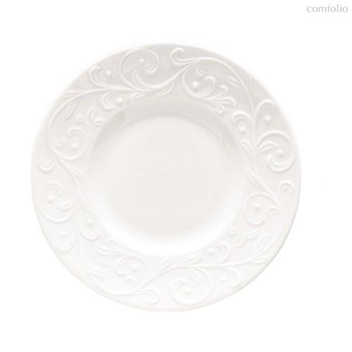 """Тарелка десертная Lenox """"Чистый опал, рельеф"""" 16,5см, цвет белый, 16 см - Lenox"""