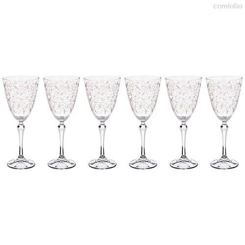 Набор бокалов для вина из 6 шт. ELISABETH 350 мл ВЫСОТА=23 СМ. (КОР=1Набор.) - Crystalex