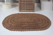 """Коврик для ванной """"MODALIN"""" кружевной YANA 60x100 см 1/1, цвет горчичный, 60x100 - Bilge Tekstil"""
