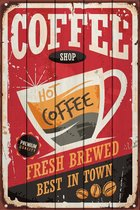 Кофейный магазин 30х40 см, 30x40 см - Dom Korleone