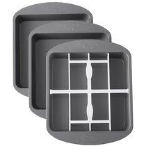 Набор 3 квадратных форм для многослойной выпечки Wilton 20,3х20,3х3,81см, 1 вставка пластик - Wilton