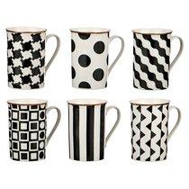 Набор Кружек Из 6 Шт.Черно-Белое 300 Мл. Коллекция Vogue - Porcelain Manufacturing Factory