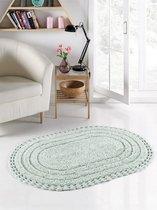 """Коврик для ванной """"MODALIN"""" кружевной YANA 80x120 см 1/1, цвет светло-зеленый, 80x120 - Bilge Tekstil"""