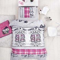 Постельное белье Ranforce Molly, цвет фуксия, размер 1.5-спальный - Altinbasak Tekstil